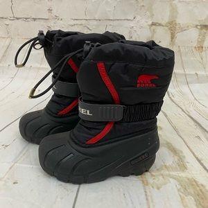 Sorel unisex kids 9 waterproof winter boots EUC